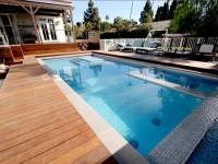 Harga Pembuatan Kolam Renang Lantai Wood Deck Terbaru