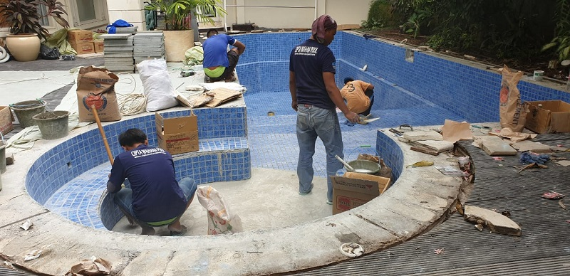 Kontraktor kolam renang yang dibuat oleh ciptawahana pool
