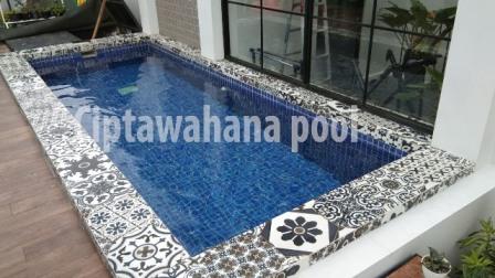 kolam renang klien di solo yang dibuat oleh ciptawahana pool
