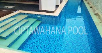 Kolam renang klien yang dibuat oleh ciptawahana pool