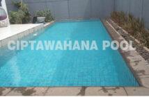 kolam renang yang telah diisi air oleh ciptawahana pool